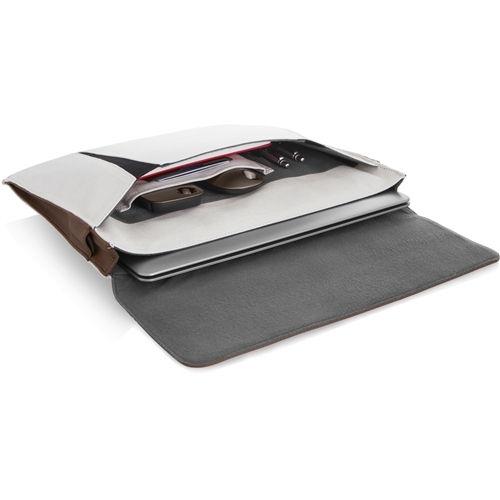 fehér és barna 13,3 slim notebook tásk
